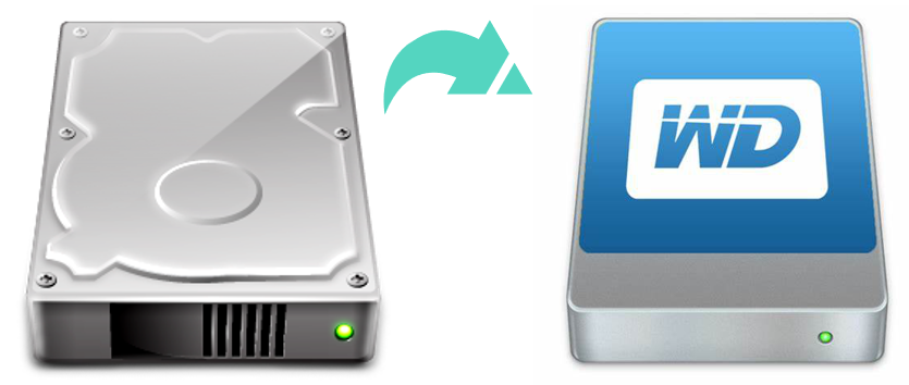 clone hard drive data to a WD external hard drive