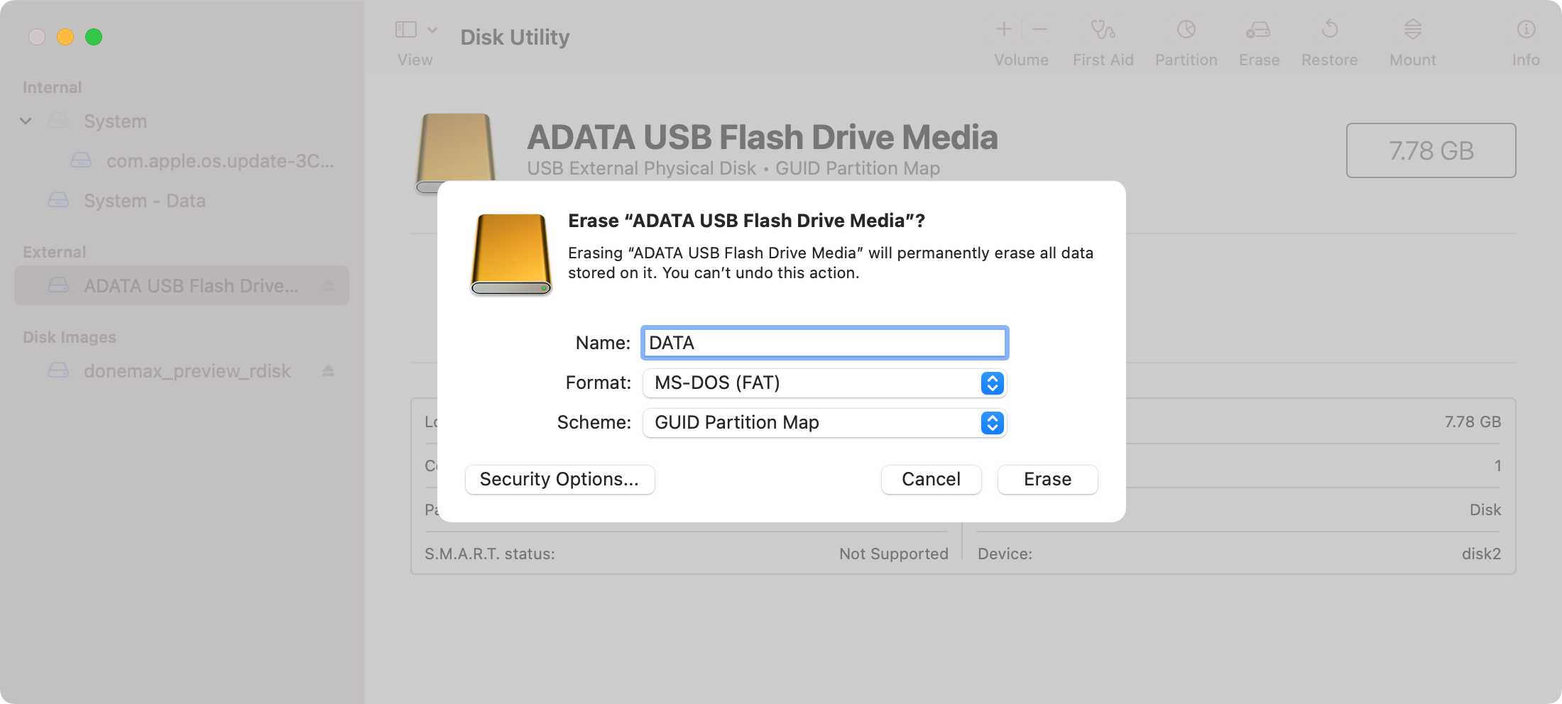 USB flash drive is not showing up on Mac