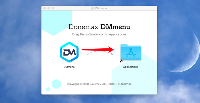 install and activate DMmenu