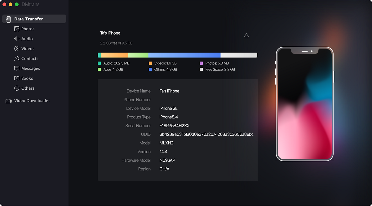 iPhone data manager for macOS Big Sur